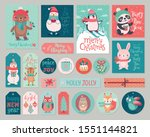 christmas cards and gift tags... | Shutterstock .eps vector #1551144821