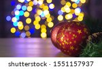 Background Of Two Christmas Re...