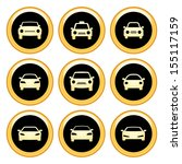 car icons gold icon set | Shutterstock .eps vector #155117159