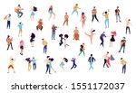 dancing people vector isolated... | Shutterstock .eps vector #1551172037