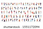 dancing people vector isolated... | Shutterstock .eps vector #1551172094