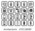 cell phone   mobile phone... | Shutterstock .eps vector #155118089
