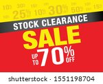 clearance sale  banner or...   Shutterstock .eps vector #1551198704