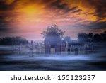Spooky Graveyard And Fog
