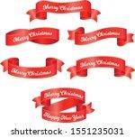 merry christmas  design ribbon... | Shutterstock .eps vector #1551235031
