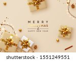 christmas background. xmas... | Shutterstock .eps vector #1551249551