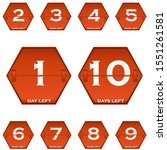 set of badges with number of...