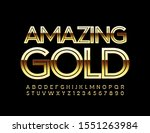 vector amazing gold font.... | Shutterstock .eps vector #1551263984
