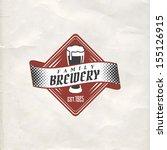 retro styled label of beer.... | Shutterstock .eps vector #155126915
