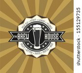 retro styled label of beer.... | Shutterstock .eps vector #155129735