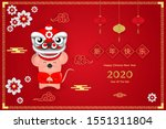 happy chinese new year 2020.... | Shutterstock .eps vector #1551311804