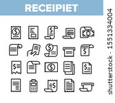 receipt bill collection... | Shutterstock .eps vector #1551334004