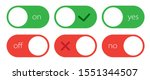 set of green and red toggle...