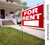 home for rent sign in front of... | Shutterstock . vector #155137445