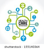 health care design over white... | Shutterstock .eps vector #155140364