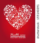 health care design over red...   Shutterstock .eps vector #155140391