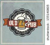 retro styled label of beer.... | Shutterstock .eps vector #155140805