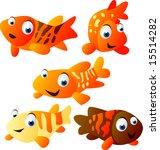 vector animal set 26    koi fish | Shutterstock .eps vector #15514282