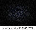 damask vintage black background ... | Shutterstock .eps vector #1551432071