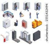 data center equipment and...   Shutterstock .eps vector #1551432494