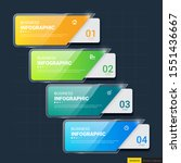 infographics template 4 options ... | Shutterstock .eps vector #1551436667