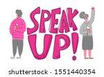 speakers characters. speak up...   Shutterstock .eps vector #1551440354