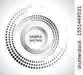 halftone dots in circle form.... | Shutterstock .eps vector #1551449531