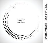 halftone dots in circle form.... | Shutterstock .eps vector #1551449537
