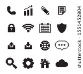 pixel phone apps icons set
