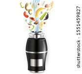 food waste disposer for home...   Shutterstock .eps vector #1551459827