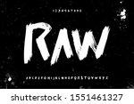 Raw Brush Stroke Handwritten...