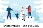 mom and dad with kids enjoy...   Shutterstock .eps vector #1551469307