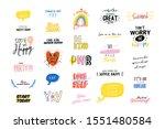 motivational typography set of...   Shutterstock .eps vector #1551480584