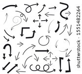 set of black arrows....   Shutterstock . vector #1551482264
