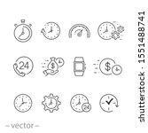 clock icons set  calendar date  ...