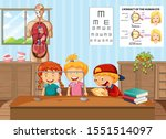kids learning science in lab...   Shutterstock .eps vector #1551514097