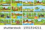 background scenes of animals in ... | Shutterstock .eps vector #1551514211