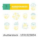 handshakes icons set. symbol...