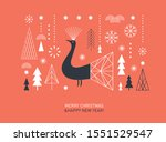 christmas  and new year's card. ... | Shutterstock .eps vector #1551529547