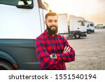 Young Bearded Man Standing In...