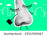 human nose like worker is going ...   Shutterstock .eps vector #1551540467