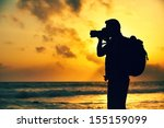 silhouette of young... | Shutterstock . vector #155159099