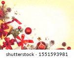 christmas presents  branch of... | Shutterstock . vector #1551593981