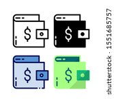 financial wallet icon. with...