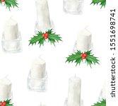 Watercolor Christmas Candles I...
