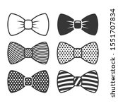 bow tie icons set on white... | Shutterstock .eps vector #1551707834