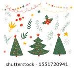 set of christmas decor elements.... | Shutterstock .eps vector #1551720941
