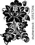 illustration with black flower... | Shutterstock .eps vector #15517246