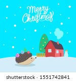 merry christmas greeting poster ...   Shutterstock . vector #1551742841