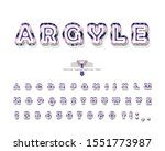 argyle decorative font. cartoon ... | Shutterstock .eps vector #1551773987
